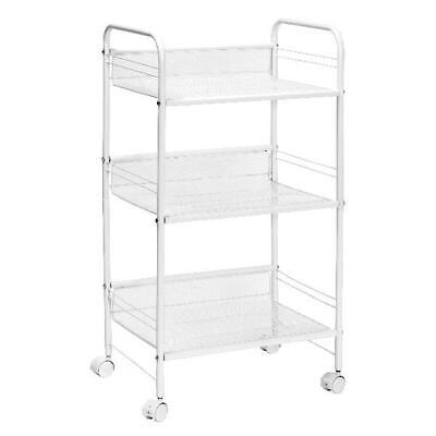 Honey Can Do 3-Shelf Rolling Wire Cart, White