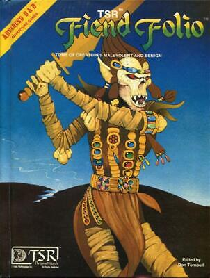 Fiend Folio 1st Edition Advanced Dungeons & Dragons Hardcover TSR 2012 Hi-Grade!