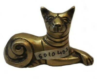 Buy The Beautiful Vintage Mid Century Solid Brass Antique Cat Statue #TSH285