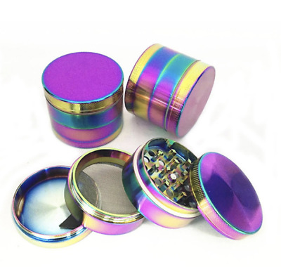 Multicolor Four Layer Herb Grinder Tobacco Grinder Bud Buster with Keef Tray