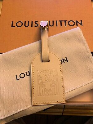 Louis Vuitton X luggage tag Beverly Hills rare