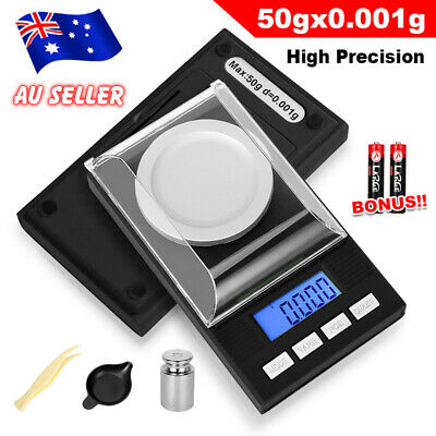 0.001g50g High Precision Electronic LCD Digital Scales Jewellery Scale Milligram