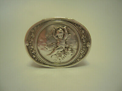 Antique Sterling Silver Pill box