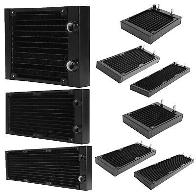 Water Cooling 12 Tubes Aluminum Radiator CPU Heat Sink Exchanger CPU Heatsink