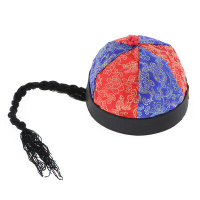 MagiDeal 4 pezzi Nero Cappelli orientali cinesi Ponytail Party Role Play