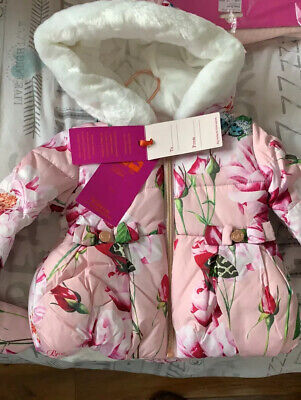 Ted Baker Baby Girl Floral Coat 6-9 Months This Season