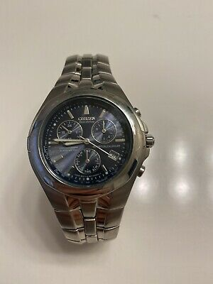 Citizen Eco-Drive Men's Atomic Chronograph Alarm Multi-Dial Two Tone 42mm Watch