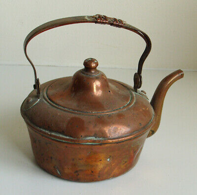 Small Antique Copper And Brass  Kettle