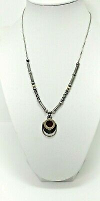 """African Free Trade Maasai Vase Tuareg Silver w// 18/"""" Silver Plated Necklace G18"""