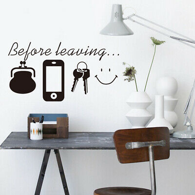 Before Leaving Quote Removable Vinyl Decal Art Mural DIY Home Decor~Wall Sticker