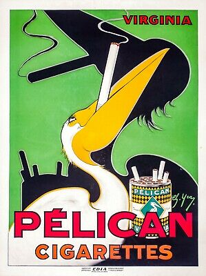Pelican Cigarettes Color Advertisement Poster Remastered 11x17 inches Print