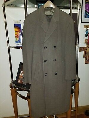 Taupe Brown Wool or Wool Blend Ralph by Ralph Lauren Top Coat trench 42R