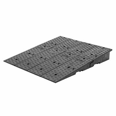 "Guardian 20CR44911 Rubber Full-Width Wedge Shipping Container Ramps - 49"" x 44"""
