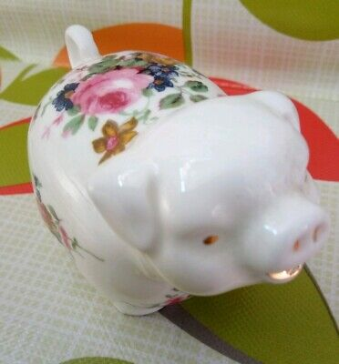 Staffordshire Fine Bone China Pig Collectible Made in England