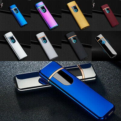 Electric Lighter Arc Cigarette Plasma Rechargeable Waterproof Flameless USB AO