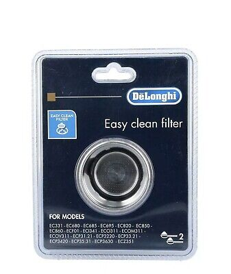Delhonghi 5513281011 Easy Clean Filter DLS401 2 Cup EC Series Genuine
