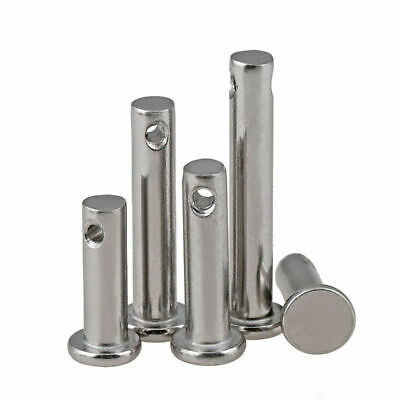 3/4/5/6/8/10mm Stainless Steel Clevis Pins Link Hinge Pin Farming Sailing Solid