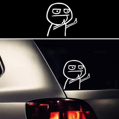 1PC Funny middle finger vinyl decal car sticker DIY reflective auto stickers RF