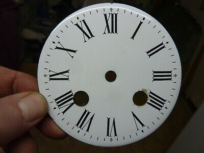 """Antique French Clock 3 11/16"""" Enamel Dial  -- Free Uk Post  (Ch)"""