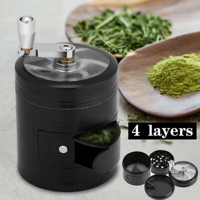 60mm Mill Grinder 4 Part Manual Herb Spice Crusher with Crank  Handle Zinc Alloy