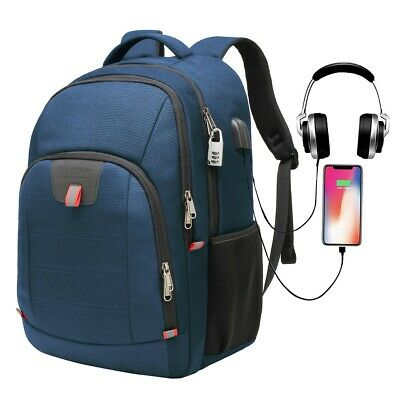 19 inch College or Travel Laptop Backpack with USB Port, Fits 17 inch Laptop