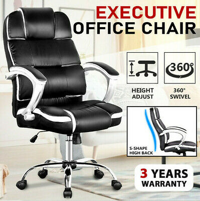 Office Chair High Back PU Leather Executive Recliner Computer Gaming Chairs Seat