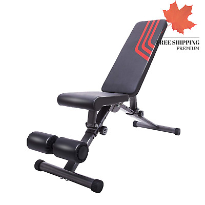 Adjustable Weight Bench Utility Exercise Workout Bench Flat Incline Decline B...