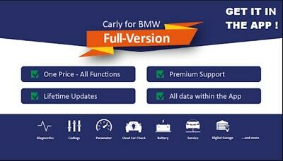 ✅ Carly For BMW Pro 40.28 Full ACTIVATED + LICENSE DIAGNOSTIC & CODING 1 CLICK