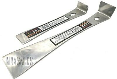 "(2) 9"" & 6"" STAINLESS STEEL PRY BAR Set Nail Puller SCRAPER Heavy Duty Bars"