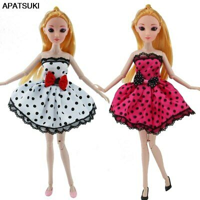 2pcs/lot Doll Clothes for Barbie Doll Outfits Cloth for 1/6 BJD Doll Party Dress