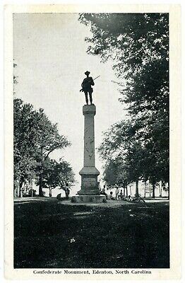 Edenton North Carolina NC -CONFEDERATE SOLDIER MONUMENT- Postcard Civil War