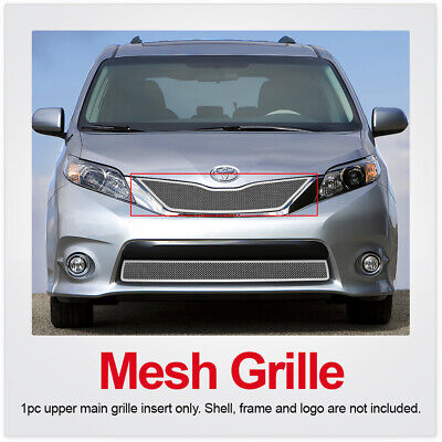 Fits 2011-2017 Toyota Sienna SE honeycomb style Upper Chrome Mesh grille insert