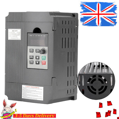 0-400Hz 1.5KW 3HP 8A AC 220V THREE PHASE SPEED VARIABLE FREQUENCY DRIVE INVERTER