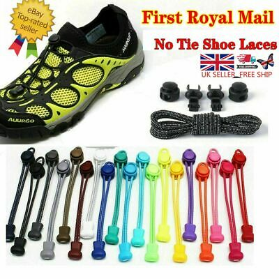 No Tie Shoe Laces Elastic Lace System Lock Sports Shoelaces Runners Trainer Z