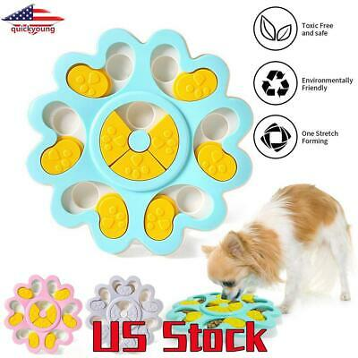 Dog Food Bowl Puppy Pet Toy Supplies Improve IQ Training Games Feeder Puzzle US
