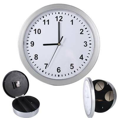 Secret Wall Clock Safe Home Valuables Money Stash Jewellery Gold Storage  Box