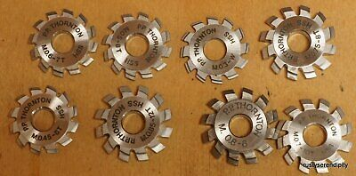 Selection of 7 Thornton Pinion Cutters + 1 Wheel Cutter- all almost unused
