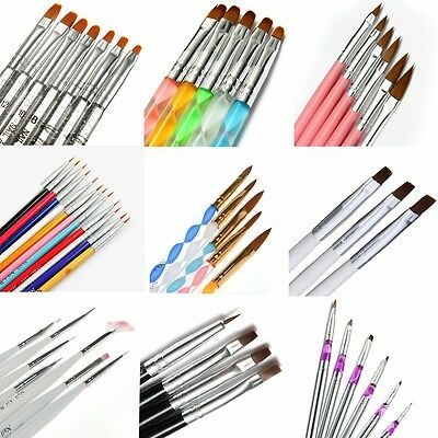 Nail Art UV Gel Polish Design Dot Painting Detailing Pen Brushes Tool Set Beauty