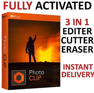 Inpixio Photo Clip 9 Pro Full Version Photo Editor FAST Delivery Global