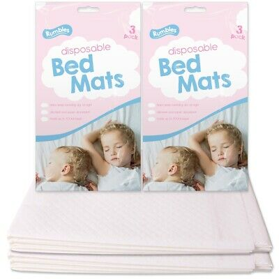 6x TODDLER BED MATS Dry Night Incontinence Potty Training Mattress Pads 60x90cm