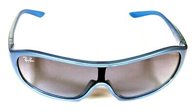 NEW Ray Ban JUNIOR RJ9039-S 151/8F Sunglasses Blue Frames Gray Lens Kids Eyewear
