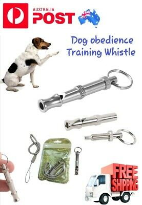 Dog Whistle Stop Barking Bark Training Pet Obedience Silent Adjustable Pitch