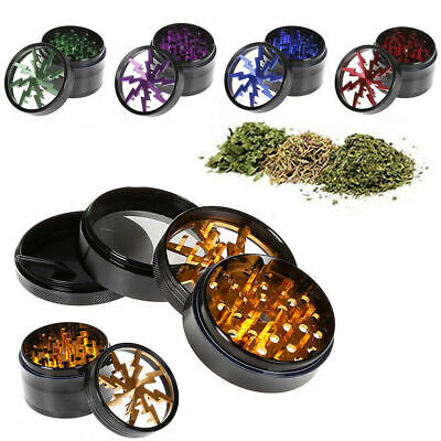 2.5 Inch 4 Parts Spice Herb Crusher & Tobacco Crusher Grinder WITH MAGNET TOP