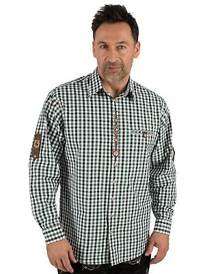 Os-trachten Traditional Shirt Checked Berni Green