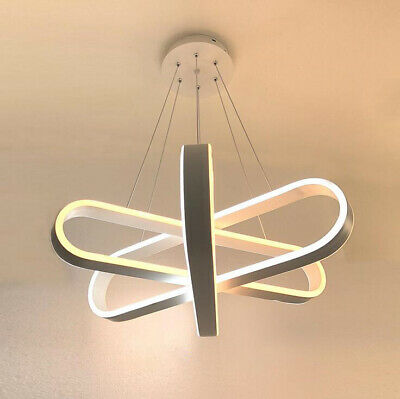 LED Dining Room Table Chandelier Aluminum White Silica gel Ceiling Lamp Fixtures