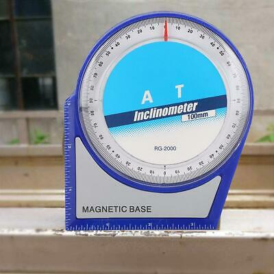 4 x 90° Slope Inclinometer Angle Finder Protractor Slope Level Meter New