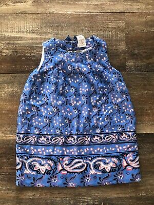 Crewcuts J. Crew Baby girl's Blue Floral Dress Sundress 2