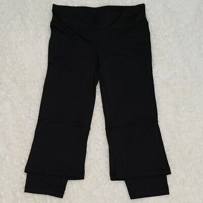 C9 by Champion Black Cropped Layered Look Leggings Size Small