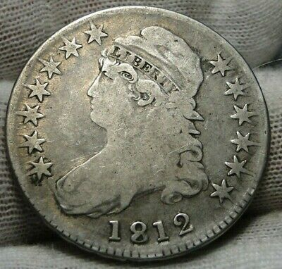 1812 Capped Bust Half Dollar 50 Cents - O-105a R2 Nice Coin, Free Shipping(8991)