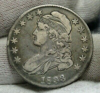 1833 Capped Bust Half Dollar 50 Cents - Nice Coin.. Free Shipping  (9003)
